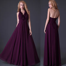 2014 Sexy Vogue Bridesmaid Prom Formal Party Evening Maxi Halter Dress New 01