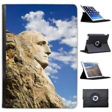 George Washington Carving At Mount Rushmore USA Folio Leather Case For iPad Air