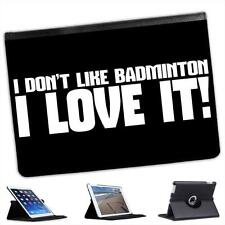 I Don't Like Badminton....I Love It!  Folio Wallet Leather Case For iPad Air