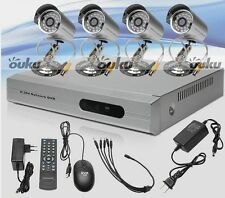 4CH Home CCTV DVR Outdoor Color Cameras Motion Dection Security System US Stock