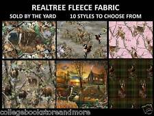 REALTREE FLEECE FABRIC-REALTREE FLEECE BLANKET FABRIC-SOLD BY THE YARD-8 STYLES