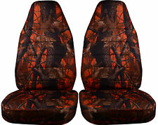 Jeep Wrangler TJ Car Seat Covers Front Set in Camo Orange or choose color
