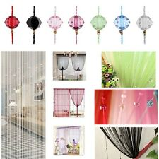 Decorative String Curtain Beads Wall Panel Fringe Room Door Window Divider Blind