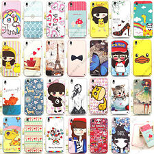Lovely Cartoon 2 in 1 PC & Soft TPU Hybrid Case Cover Skin For HTC Desire 816