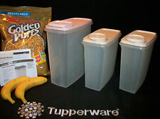 Tupperware Modular Mates Cereal Storer canister CHOICE 20c 13c ~PINK Seal CHOICE