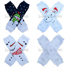 Leg Warmers - Winter Snowman Snowflakes - One Size Infant Baby Toddler Girl Boy