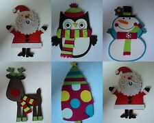 PRETTY WOOD & FELT CHRISTMAS SHAPES FOR CARDS AND CRAFTS 4 COLOURS TO CHOOSE