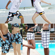 Mens Womens Couple Zebra Various Beach Surf Board Swim Shorts Lover Casual Pants