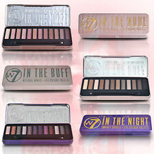 W7 'IN THE BUFF' 'IN THE NUDE' 'IN THE NIGHT' EYE SHADOW COLOURS PALETTE GENUINE