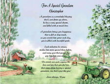 9 Designs Son Grandson Personalized Poem Gift For Birthday or Any Occasion