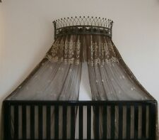 Metal Iron Wall Teester Bed Canopy Drapery Crown Hardware Over bed or Window