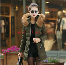 2014 Winter women's down cotton clothing jackets with fur coat collar Overcoat