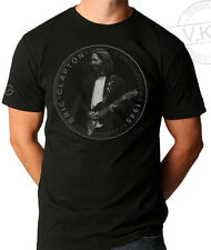 ERIC CLAPTON of Cream , Guitar Hero Coin T shirt by VKG