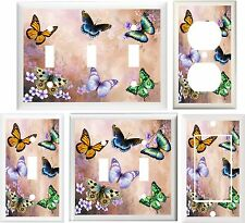 BEAUTIFUL BUTTERFLY FLORAL HOME DECOR SWITCH OR OUTLET COVER V661