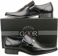 Mens New Black Formal Slip On Leather Lined Office Shoes Size 6 7 8 9 10 11 12