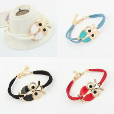 New Korean Retro Owl Bracelet Jewellery Three Colors Leather Bracelet 2014 Hot
