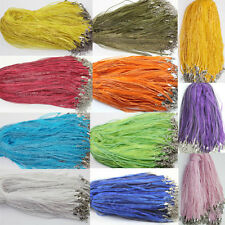 Wholesale 20/50/100Pcs Organza Ribbon Necklace Cord String Chain Lobster Clasp