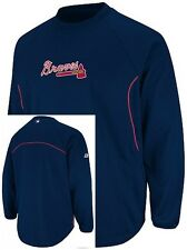 Atlanta Braves Majestic Authentic Therma Base Mens Fleece Navy Big & Tall Sizes