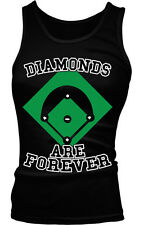 Diamonds Are Forever Softball Baseball Humor Funny Sports Boy Beater Tank Top