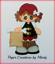 Craftecafe Pirate girl  premade paper piecing scrapbooking page album by Mindy