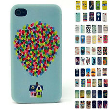 Ultra Thin Patterns Flip Skin Back Case Cover For Apple iPhone 4 4G 4S Hard