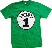 Stoned 1 One Relax Smoking Buddy Weed Marijuana Party Weekend New Mens T-shirt