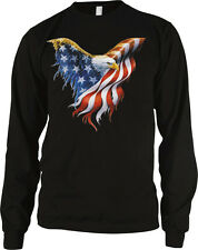 American Flag Bald Eagle USA Patriotic Independence Day 4th Long Sleeve Thermal