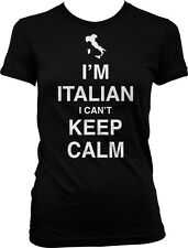 Im Italian I Cant Keep Calm Carry On Parody Italy Guido Meme Juniors T-shirt