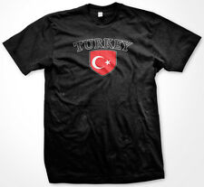 Turkey Turkish Türkiye Türk bayrağı Flag Crest Soccer Football Men's T-shirt