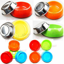Stainless Steel / Plastic Dog Cat Travel Bowl for Pets 5 colors  bowl dish