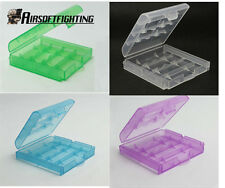1x Hard Plastic Case Holder Storage Box cover for Rechargeable AA AAA Battery A