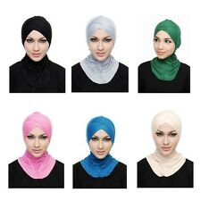 New Hijab Underscarf Hat Cap Stretchy Islamic Bonnet Head Wear Band Neck Cover