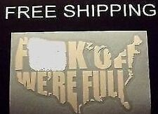 USA F*** OFF VINYL DECAL STICKER CAR/TRUCK WINDOW FUNNY