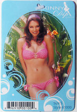 2 PC BIKINI RETRO O-RING PINK/WHITE POLKA DOT SKINNY DIP SWIMWEA