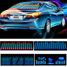 Car Sticker Music Rhythm LED Flash Light Window Lamp Sound Activated Equalizer