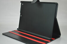 BLACK AUTO SLEEP OFFICE STAND COVER CASE HOLSTER SHELL FOR APPLE IPAD AIR STYLUS