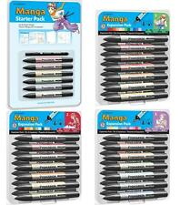 LETRASET PROMARKER 12 PEN MANGA SET WHOLE RANGE - STARTER & EXPANSION PACK