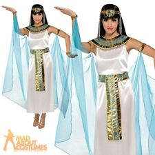 Adult Cleopatra Costume Egyptian Queen Fancy Dress Ladies Outfit New UK 8-16