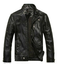 2014 NEW Men's leather motorcycle zip coats jackets washed leather coat 3colour