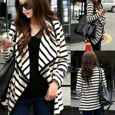 Women Long Sleeve Striped Casual Top Cardigan Blouse Jacket Outwear Coat S M L H