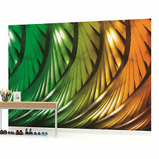 Green and Orange Abstract Pattern Photo Wallpaper Wall Mural (CN-499P)
