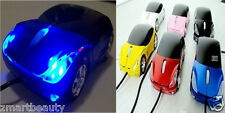 New 3D Portable Car Shaped Optical USB Mouse For PC Laptop Computer Y
