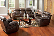 Modern Recliner Sofa Loveseat & Chair in Bonded Leather Living room 600561