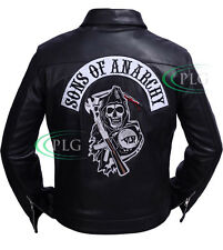 Sons of Anarchy SOA Highway Black Real Leather Jacket For Men -BNWT in ALL SIZES