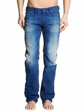 Diesel Mens VIKER 0811P Straight Leg Jeans - Blue Wash Denim