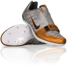 NIKE ZOOM LJ 4 Long Jump Track Field Spikes Cleats Shoes silver orange SIZE 15