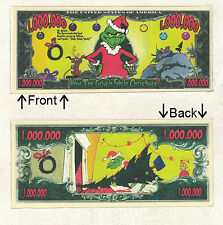 How Grinch Stole Christmas Million Dollar Novelty Notes 1 5 25 50 100 500 1000