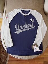New York Yankees_Stitches Long Sleeve Waffle Knit Thermal Henley_New wtags $30