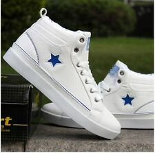 Mens Casual Platform Wedge Fashion Sneakers Low Top Lace Up Students Shoes Size