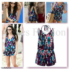 Aztec Playsuit Jumpsuit Cover Up Beach/Pool/Holiday All in One UK 8 10 12 14 NEW